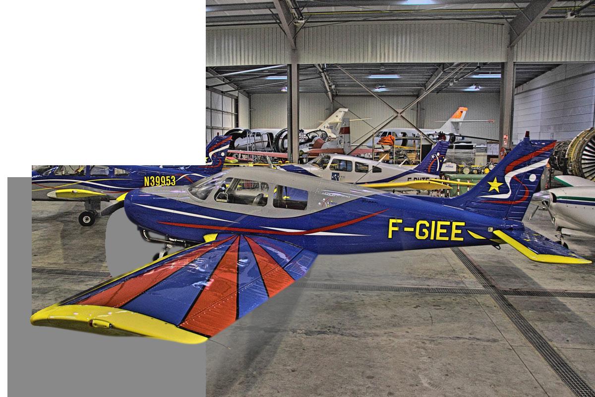 Avion garage effet 3D