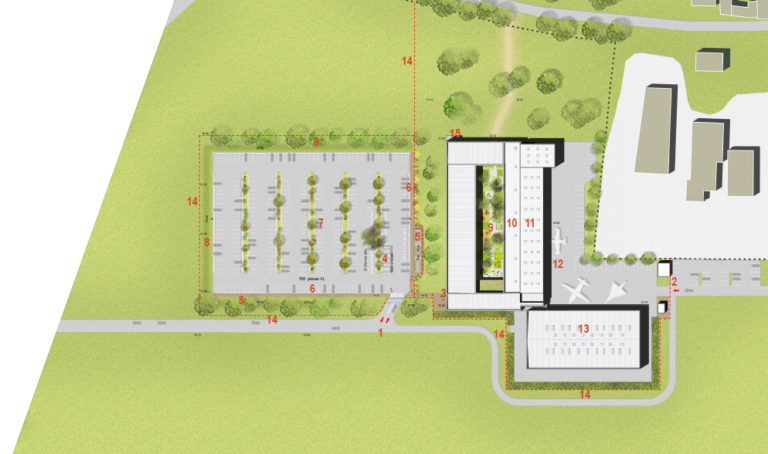 Plan architecture nouveau site CFA Bonneuil en France