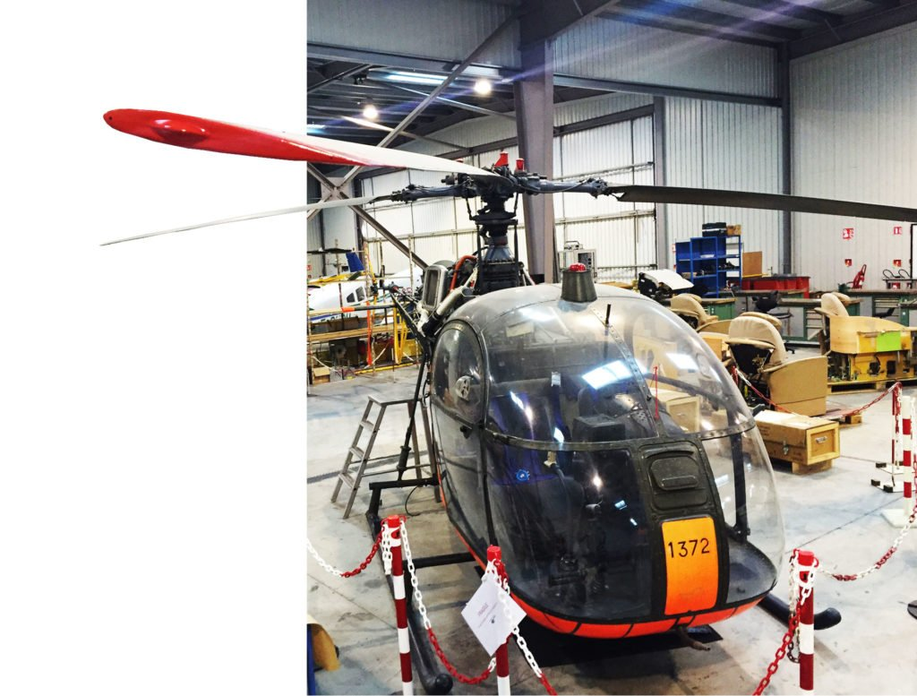hélicoptère garage effet 3D